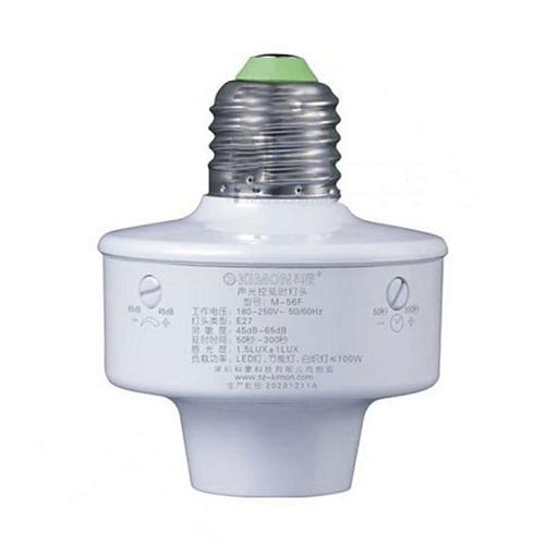 Đui đèn cảm ứng ánh sáng âm thanh KIMON M-56F