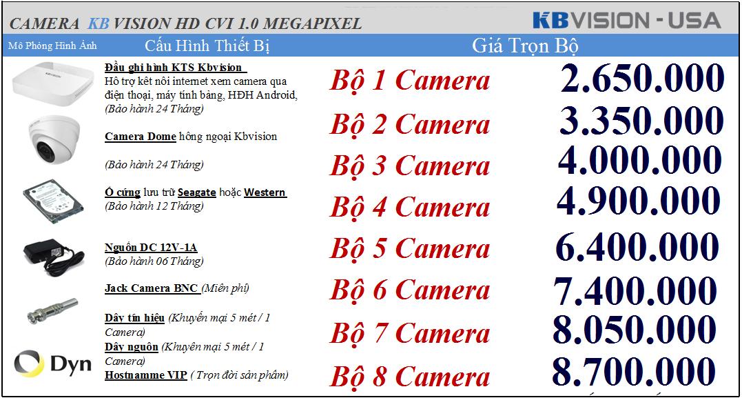 Phân phối camera Kbvision - Lap dat camera KBvision tai ha noi uy tin, gia re