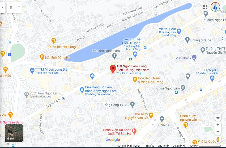 Số 150 Ngọc Lâm, Long Biên, Hà Nội