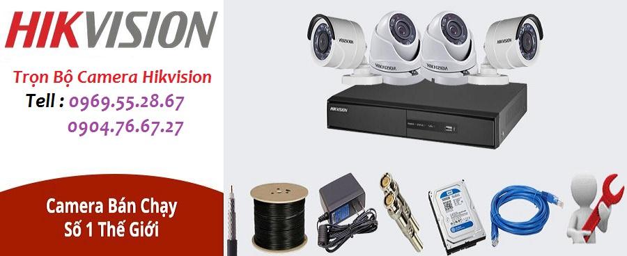 Báo giá lắp đặt trọn bộ camera Hikvision