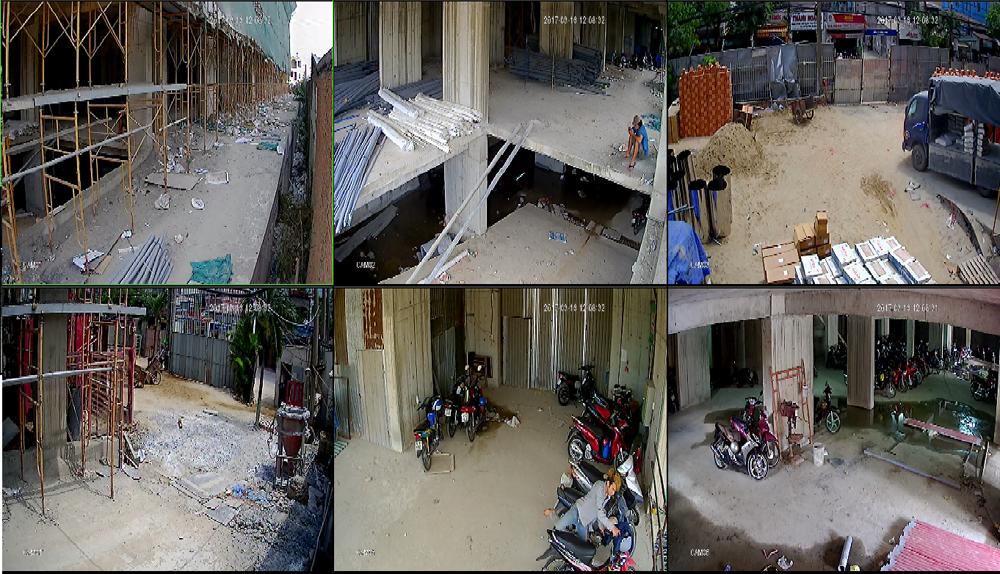 hệ thống camera giám sát cho công trình đang thi công xây dựng