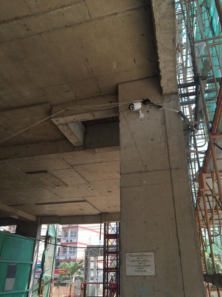 camera an ninh cho công trình đang thi công xây dựng