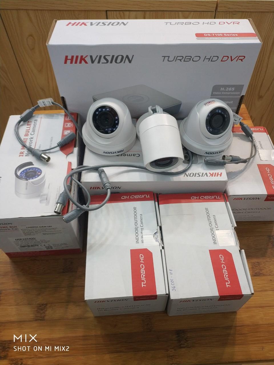 Lắp đặt bộ camera Hikvison giá rẻ