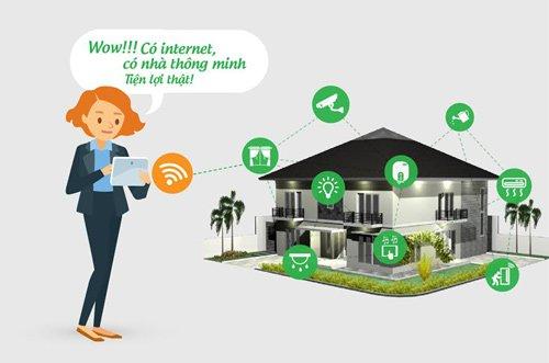 nhà thông minh - kết nối thiết bị điện qua internet