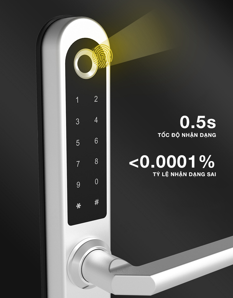 Khoá cửa vân tay 5ASYSTEMS SBS3000 PRO