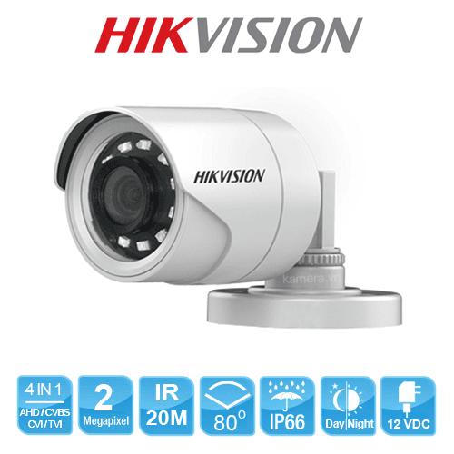 Mua và lắp đặt Bộ 2 Camera 2.0Mp Hikvision (Trong Nhà Hoặc Ngoài Trời) giá rẻ