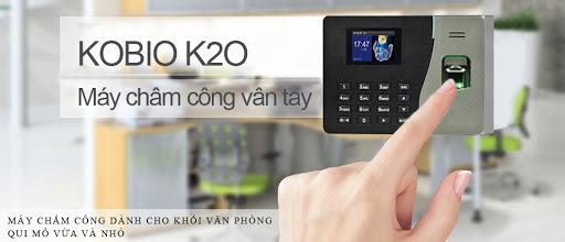đại lý phân phối MÁY CHẤM CÔNG VÂN TAY VÀ THẺ Kobio K20