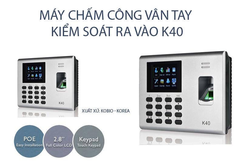 Phân phối Máy chấm công vân tay và thẻ Kobio K40 giá rẻ