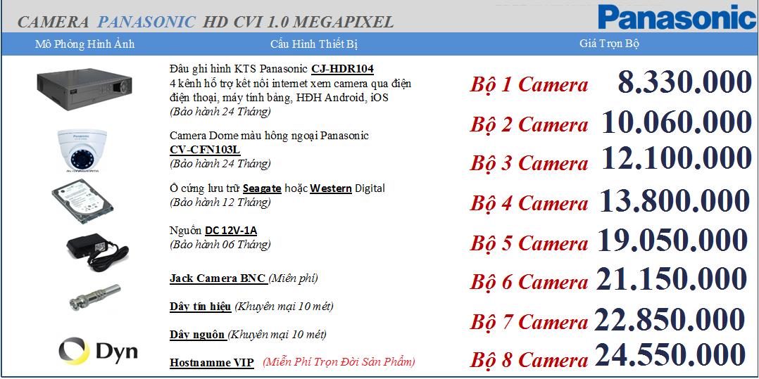 Camera Panasonic thương hiệu Nhật bản Giá 8.330.000vnđ/ bộ
