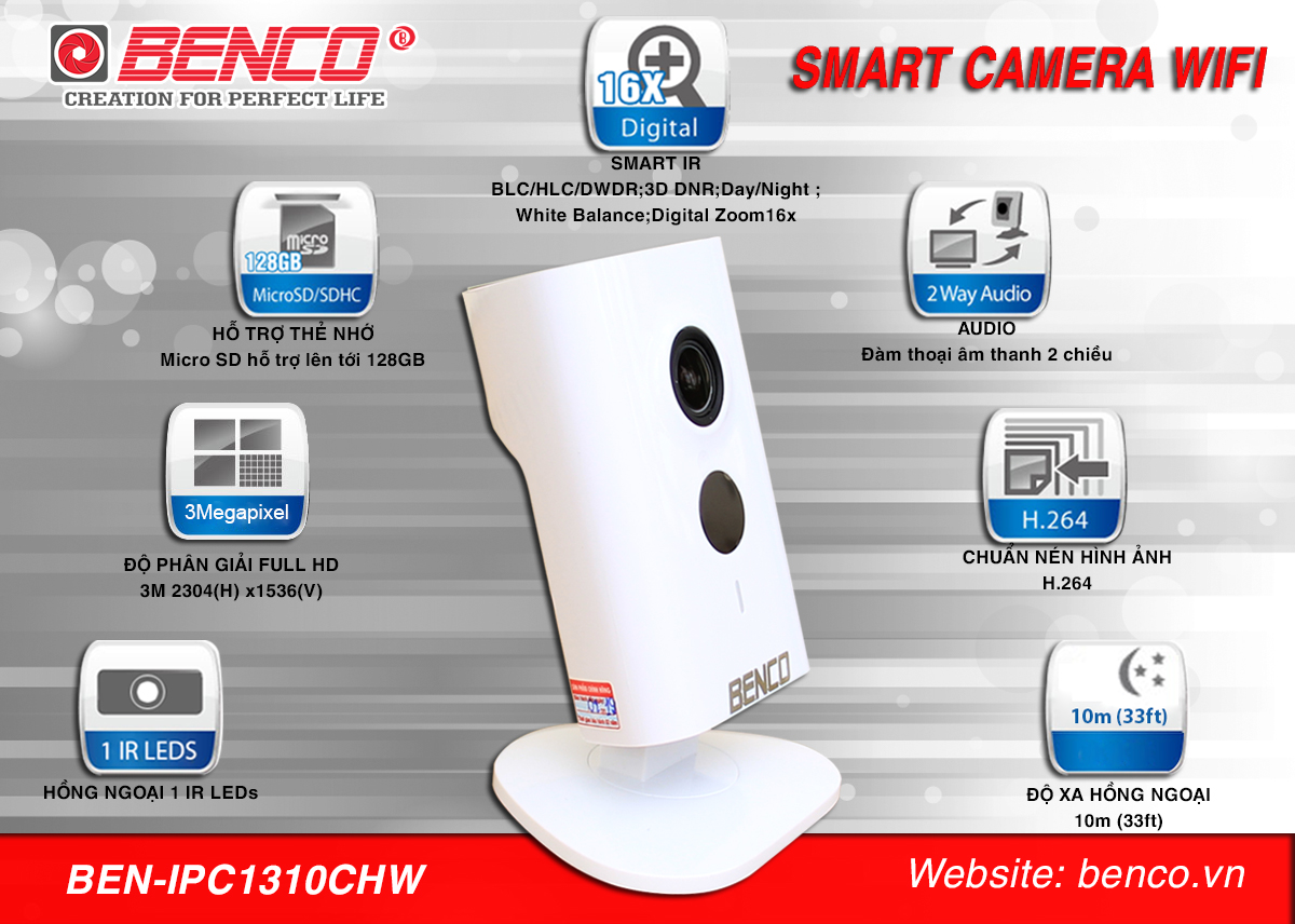 Camera ip wifi Benco