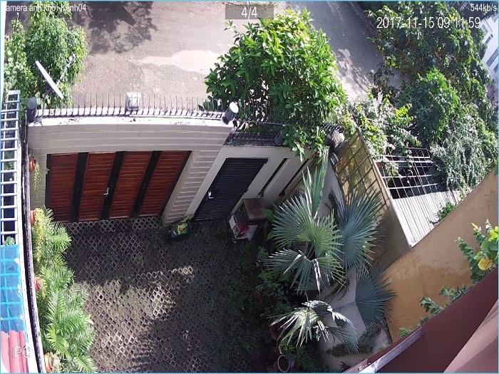camera quan sát khu vực sân vườn