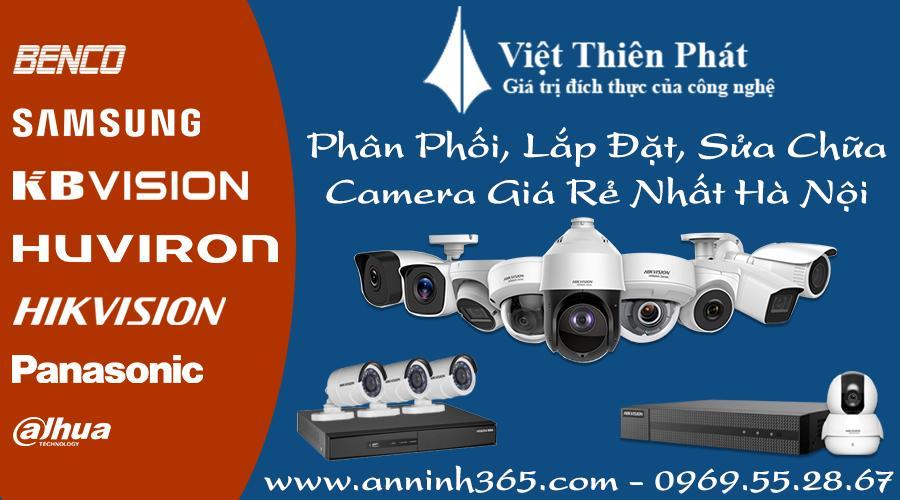Phân phối - Lắp đặt camera giá rẻ tại Hà Nội