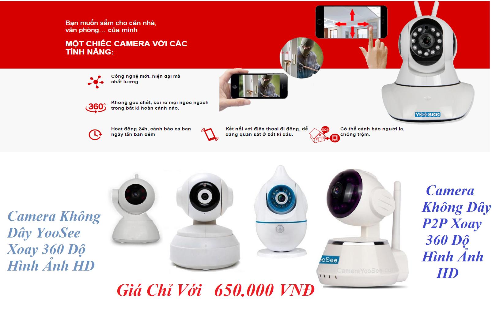 Bán camera wifi - không dây giá rẻ tại Hà Nội