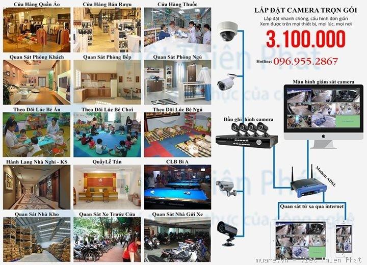 Lắp đặt camera giá rẻ cho gia đình tại Hà Nội