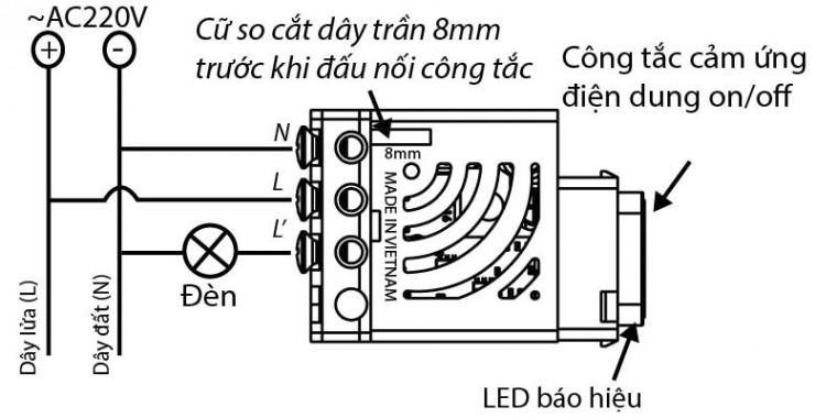 Công tắc điều khiển từ xa RF HMX-3C-TRFV1 (hạt tròn)