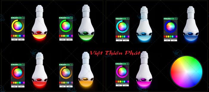 bán bóng Đèn LED đổi màu kiêm bluetooth và loa RGB-BT5
