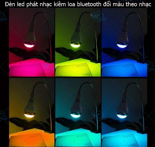 bán bóng Đèn LED đổi màu kiêm loa bluetooth RGB-BT5
