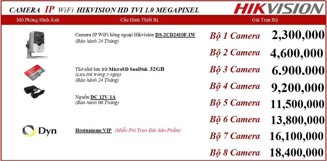 Báo giá lắp đặt camera Hikvision