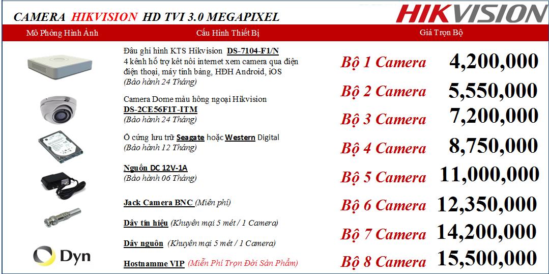 Việt Thiên Phát bán camera hikvision 4.200.000 vnđ